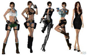 Lara Classic Sexy Pack WIP by ZayrCroft