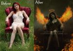 Angel Of Fire-Before And After by areemus