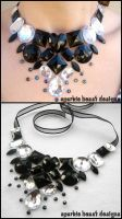 B and W Gem Necklace by Natalie526