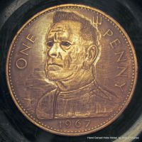 John Lydon Penny Coin Carving by shaun750
