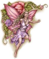 Pink Rose Fairy by LinzArcher