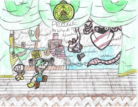 Paper Luigi Prologue - The Letter of Adventure by lillyseven7