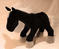 Black Horse by Couch-stuffs