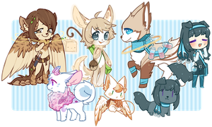 All these characters by Mousu