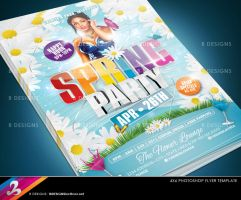 Spring Party Flyer Template by AnotherBcreation