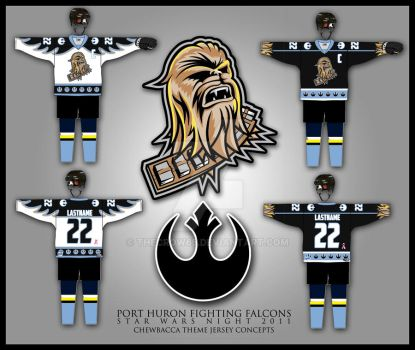 Fighting Falcons Chewbacca by theCrow65