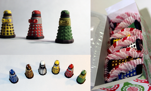 Hand Painted Chocolate Dalek Candies by Mtkld