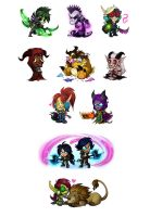 Chibi batch no. IDK by cazamonster