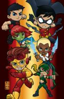 Young Justice - 3D by lordmesa