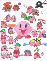 The Many Faces of Kirby by NelmaThyria