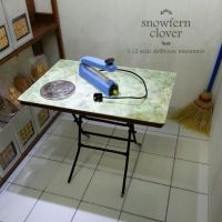 1:12 scale miniature formica top folding table by Snowfern