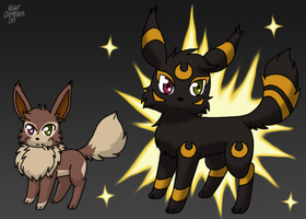 Mirage has evolved into Umbreon! by Night-Chimeras-Cry