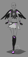 Winged Outfit Adopt - sold by Nahemii-san