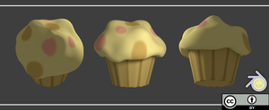 3d Muffin by Blenderpy