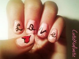 Valentines Day Love Nails! by CutieXinfinitie