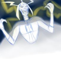 Skeleton Emperor's laugh *sketch* by The-Angel-D