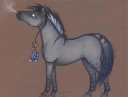 Horse Card 1- White eye by who-stole-MY-name