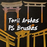 Torii Arches Brushes by petermarge