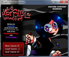 Lain's Horrible Adventure - Title Screen by NephilV