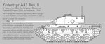 A43 Rev. II Medium Tank [Graphic Uncoloured] by SixthCircle