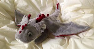 Grey Floppy Dragon Plush - FOR SALE! by Katy-A