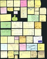 Discarded Thoughts - Post-its by ajd