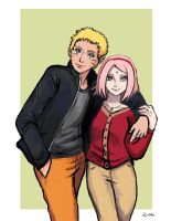 Naruto and Sakura - Young Adults by TheLivingShadow