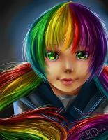 Rainbow Hair by pikadiana
