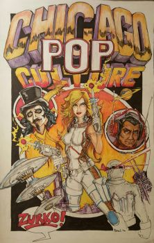 Chicago Pop Culture  by bainillustration