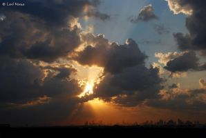 Sunset in the City by uae4u