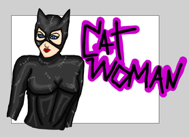 Catwoman - Doodles by KatVonB