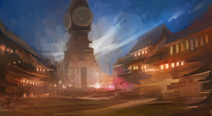 Clock Town Rough Sketch by DPremonition