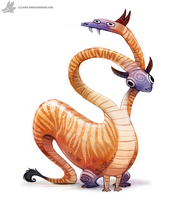 Daily Painting #864. Polycephaly by Cryptid-Creations