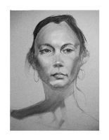 Charcoal portrait from life by KTKruse