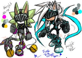 .:Bosses Knight:. Sir Evelake/Sir Lailoken by Zubwayori
