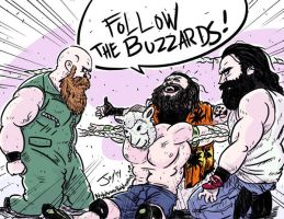 John Cena vs The Wyatt Family by JonDavidGuerra