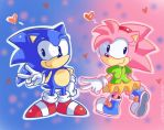 Sonamy pink and blue by Domestic-hedgehog