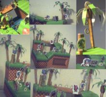 Green Hill Zone Diorama Paperc by ganon-destroyer