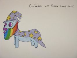 Dumbledore with Rainbow beard by IronBrony