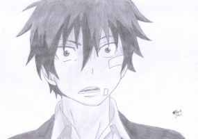 Rin Okumura (Ao no Exorcist) by BlackStarLGArt