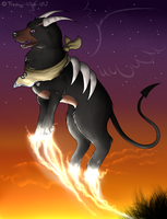 When the sun goes down.... -Houndoom- by Freaky--Like--Vivi