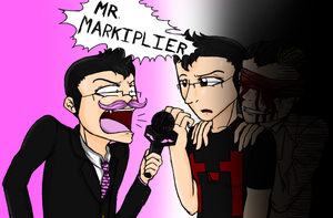 Markiplier, Wilford, and some guy... by AnimeTimelord