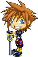 Chibi Sora: KH2 - Markers by NightmareSherbert