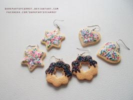 Polymer Clay Cookies by DarkPartOfCarrot