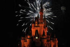 Peachy Castle Fireworks by Disney-Nerd