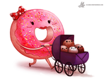 Daily Painting #927. #DoughnutDay by Cryptid-Creations