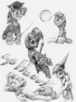 Lunchtime Pony Sketches  [UPDATED] by Here-for-the-ponies