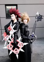 Kingdom Hearts - Axel and Roxas by YoukaiYuurei