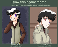 Draw this again! meme (4) by hikariviny
