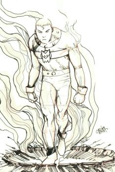 Miracleman Sketch by carlosgrittijr